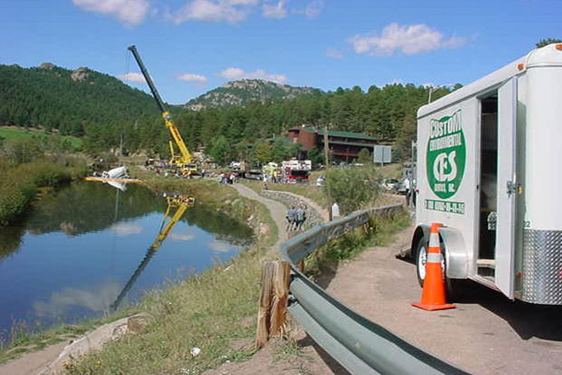 Mountain lake cleanup