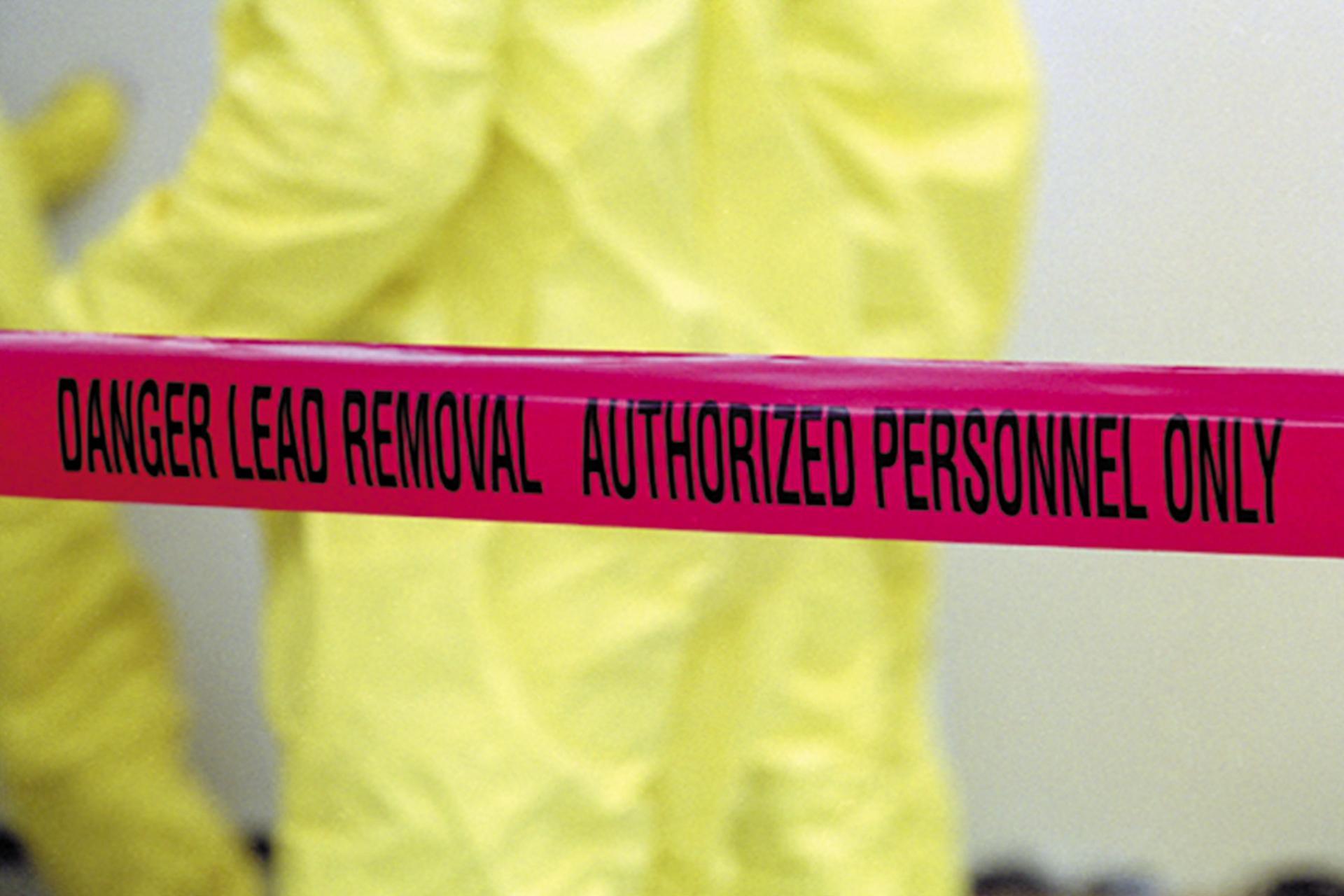 Dangerous lead removal tape
