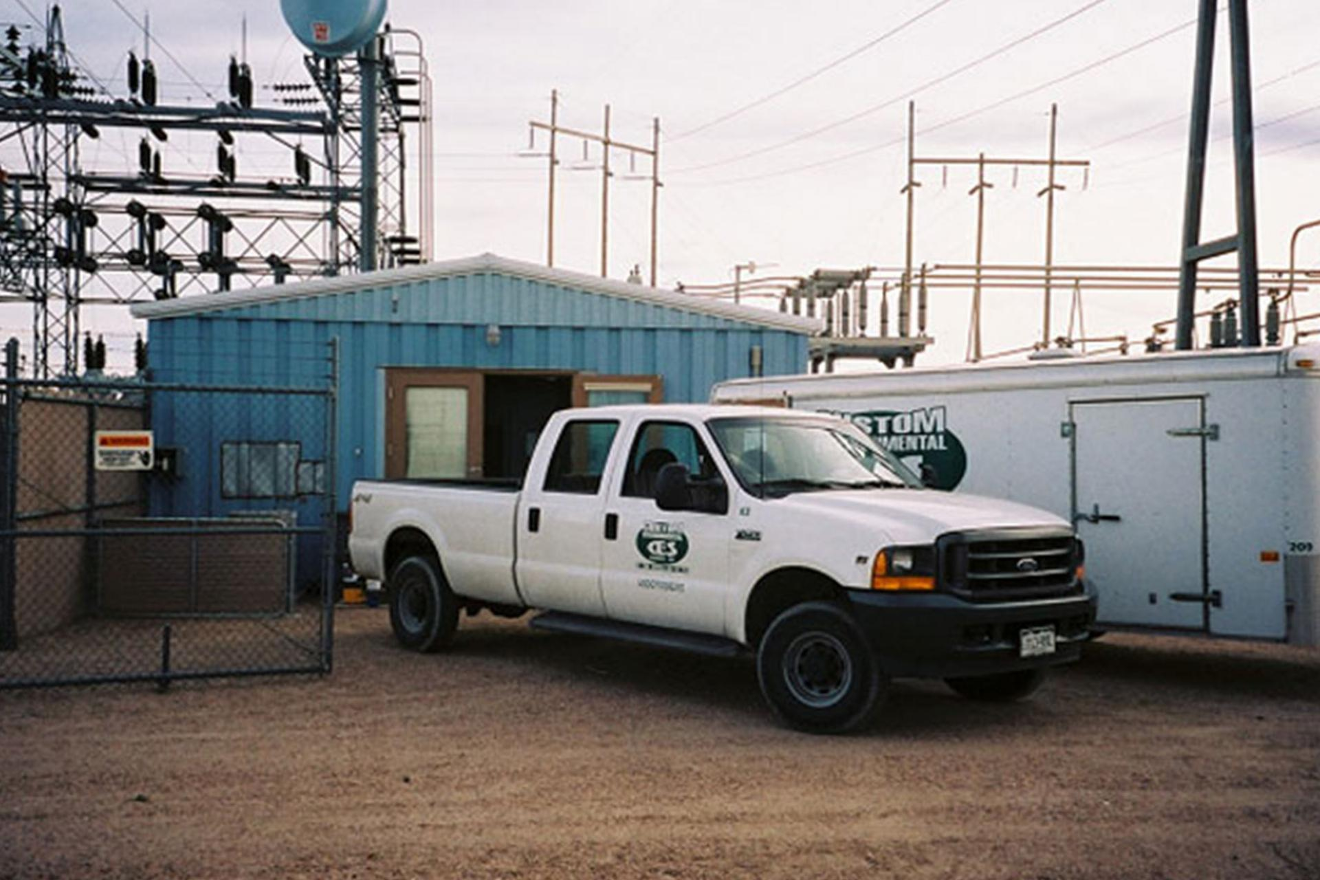 CES Truck outside power plant